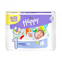 Подгузники Bella Happy New Born 1 (2-5 кг), 78 шт.