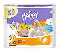 Подгузники Bella Happy Mini 2 (3-6 кг), 78 шт.