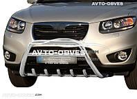 Защитный обвес переднего бампера Hyundai Santa Fe 2006-2010