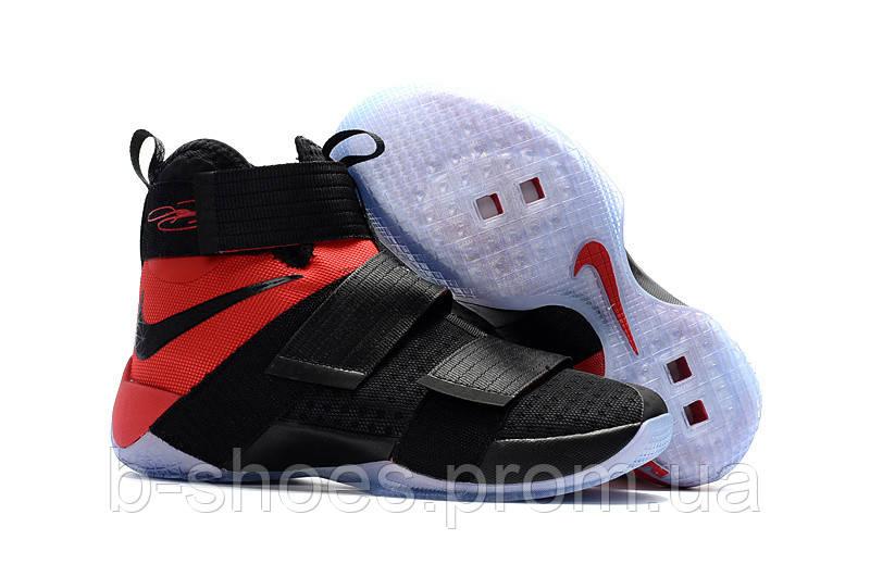 Мужские баскетбольные кроссовки Nike LeBron Zoom Soldier 10 (Black/Red)