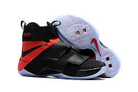 Мужские баскетбольные кроссовки Nike LeBron Zoom Soldier 10 (Black/Red), фото 1