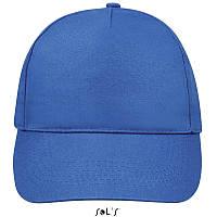 Бейсболка, кепка ярко-синяя SOL'S SUNNY, Франция, 18 цветов, рекламные под нанесение логотипа