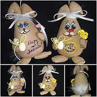 """Яйцо - кролик, пасхальный декор """"На щастя,здоровья,миру та злагоди"""" ,90/105,19 см(за 1 шт+15 грн)"""