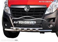 Защита переднего бампера Opel Movano 2011 - …