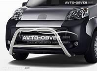 Защита переднего бампера Peugeot Bipper без нижнего гриля 60мм