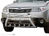 Защитный обвес переднего бампера Subaru Forester 2008-2012