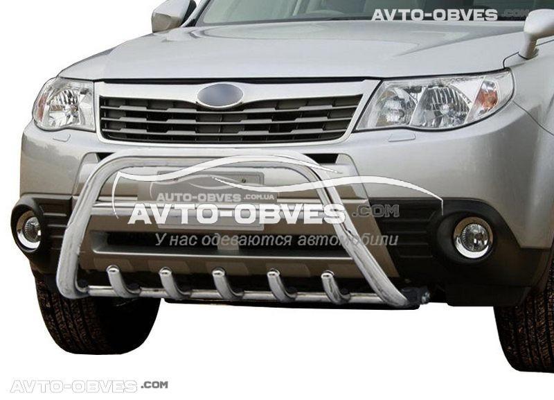 Защитный обвес переднего бампера Субару Форестер 2008-2012