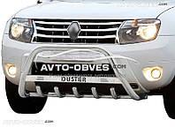 Кенгурятник Dacia Duster с логотипом (AISI304 Ø60мм)