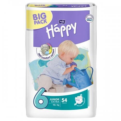 Подгузники Bella Happy Junior Extra 6 (16+кг), 54 шт.