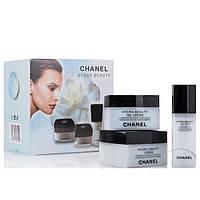 """Подарочный Набор кремов для лица Chanel """"Hydra Beauty"""" 3 в 1"""