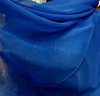 Тюль шифон синий оптом