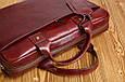 Мужская кожаная деловая сумка Blamont 013 коричневая, фото 6