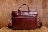 Мужская кожаная деловая сумка Blamont 013 коричневая