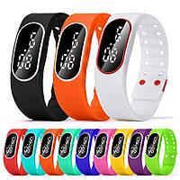 Спортивные силиконовые наручные LED часы - браслет 2 в 1, Унисекс