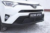 Защитная сетка решетки переднего бампера Toyota Rav4 2015+ г.в. Тойота Рав4