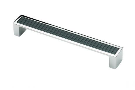 Ручка меблева Ozkardesler 5302-06/011 MADRID 160мм Хром-Чорна