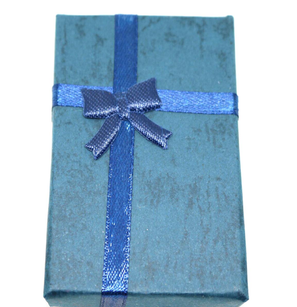 Коробочка подарочная для бижутерии Нежная Синий