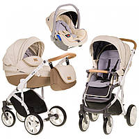 Детская универсальная коляска 3 в 1 Mioobaby Zoom Caramel Cream купить оптом и в розницу в Украине 7 километр