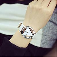 Женские наручные часы треугольные 1, Белый, фото 1