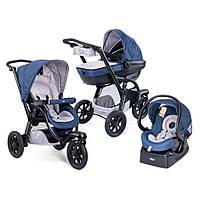 Детская универсальная коляска 3 в 1 Chicco Trio Activ3 Top синяя купить оптом и в розницу в Украине 7 километр