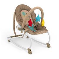 Детское Кресло качалка дуга с игрушками Milly Mally Milly khaki cow шезлонг бежевый Польша