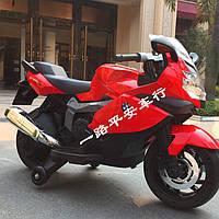 Детский мотоцикл на аккумуляторе электромобиль BMW Z 283-3, красный, дитячий електромобіль