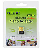 EDUP USB Wireless N Wi-Fi nano адаптер EP-N8553  Mini 150мbps  сетевая карта 802.11n беспроводной адаптер LAN