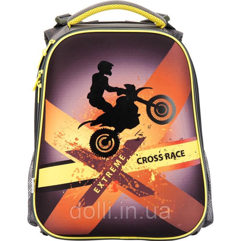 07cf4e5886be Ранец школьный ортопедический каркасный ТМ Kite Cross race K17-531M-3 -  Интернет магазин