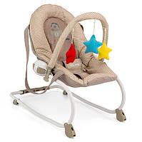 Детское Кресло качалка дуга с игрушками Milly Mally Milly khaki safari шезлонг бежевый Польша