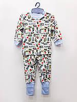 Трикотажная пижама Грузовики,плотный интерлок