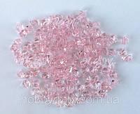Акриловые кристаллы_розовый 20шт.