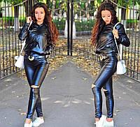 Женские кожаные лосины silv