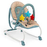 Детское Кресло качалка дуга с игрушками Milly Mally Milly khaki toys шезлонг бежевый Польша