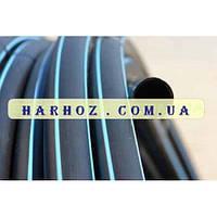 Труба ПЭ 20 10 атм. Evci Plastik магистральная черная с синей полосой