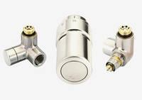 Комплект радиаторных  терморегуляторов RAX для правого подключения,нержавеющая сталь