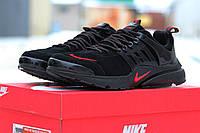 Мужские кроссовки Nike Air Presto черно красные