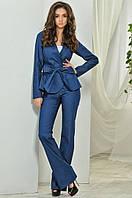 Модный женский костюм тройка пиджак + майка + брюки / Украина / джинс