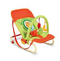 Детское Кресло качалка Milly Mally Maxi hippo шезлонг  дуга с  игрушками оранжевый Польша