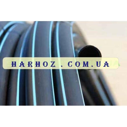 Труба ПЭ 50 6 атм. Evci Plastik магистральная черная с синей полосой - ХарХоз в Харькове
