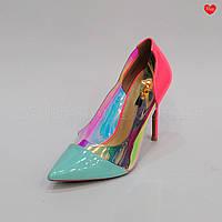 Женские туфли цветные силиконовая вставка