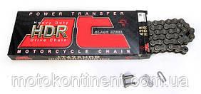 Мото цепь 428 130 звеньев JT JTC428HDR Без сальниковая цепь для мотоцикла (замок под защелку)