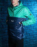 Анорак мужской Pobedov Anorak Lightness (Navy - Green) Темно-синий - зеленый 🔥