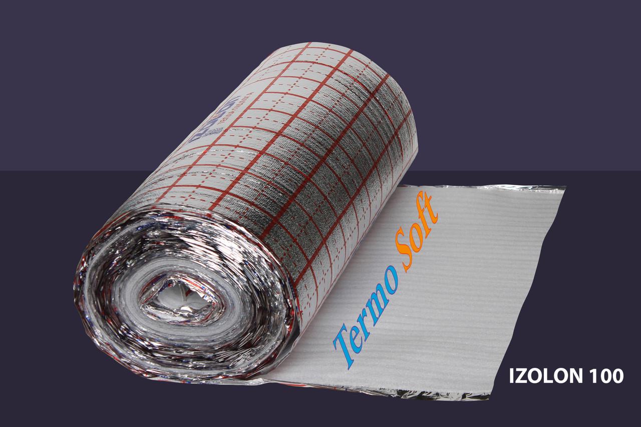 Материал для утепления полов. Вспененный полиэтилен НПЭ ламинированный с разметкой, толщина полотна - 4мм