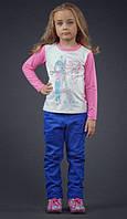 Детские коттоновые брюки для девочки