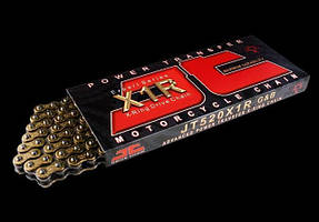 Мото цепь 520 JT JTC520X1RGB X-Ring черно-золотая с двумя замками