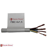 Соединительный провод ПВС ElectroHouse  4*1.5