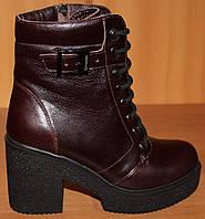 Женские ботинки весна молодежные кожаные, женская обувь весна кожаная от производителя модель Л451К