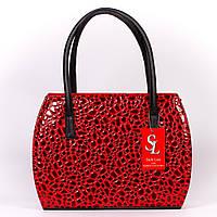 Насыщенно-красная женская лаковая сумочка art. 1335rn2