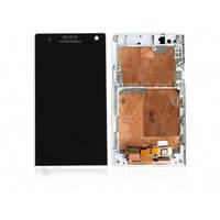Дисплей для Sony LT26i Xperia S + touchscreen, белый, с передней панелью