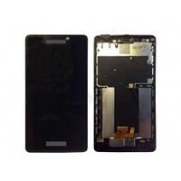 Дисплей для Sony LT30i Xperia T/LT30p/LT30a + touchscreen, чёрный, с передней панелью